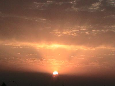 Sunset in Al Asad, Iraq