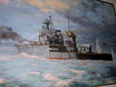Photo 3 - HMTS Thonburi in battle off the coast of Trat in 1941