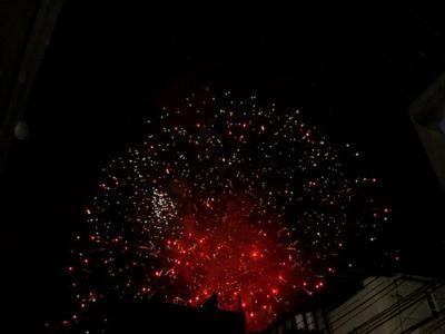 Fireworks over Taksin Bridge