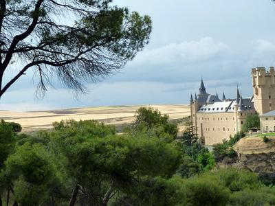 Beyond the Alcazar - wheatfields in the Castilian sunshine