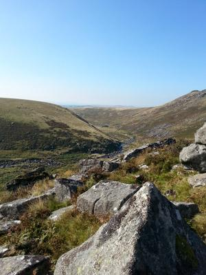 View from the top of The Tavy Cleave