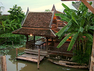 Traditional Thai Houses Old In Bangkok